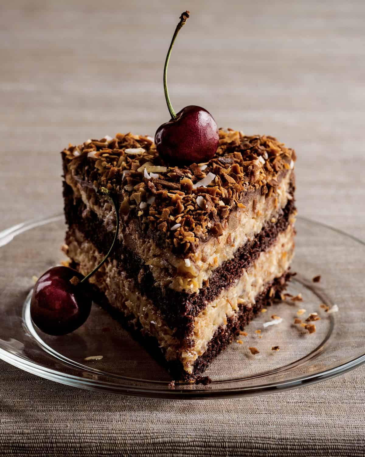 Dark Chocolate Cake With Coconut Macaroon Filling